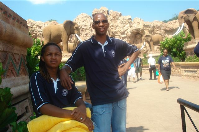 Max and Joe at Suncity, Rustenburg